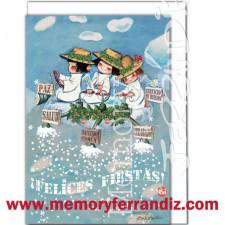 Tarjeta Christmas, SERVICIO DE RIEGOS, Memory Ferrándiz