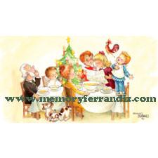 Tarjeta Christmas Ferrándiz, COMIDA NAVIDAD, © Memory Ferrándiz S.L.