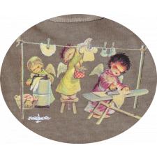 "Bolsa algodón ""Angelitos tendiendo ropa"" (M). Ferrándiz"
