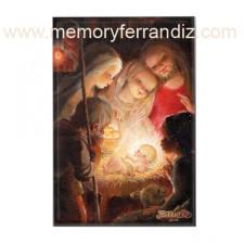Imán nevera rectangular ADORACIÓN, Ferrándiz, 53 x 78 mm
