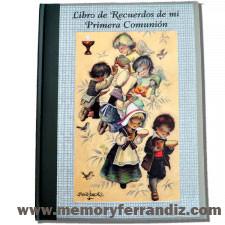 """Libro de Recuerdos de mi Primera Comunión """"Pan y vino"""". OM"""