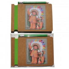 Libreta Ferrándiz  INDIO+ lápiz  12,5 x 8,5 x 0,6 cm.