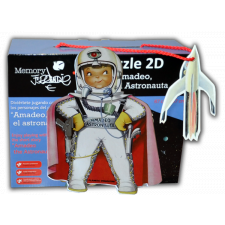 """Puzzle 2D """"Astronauta"""" + CUENTO troquelado y gadget"""