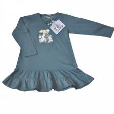 """Vestido volante doble """"Vespa"""". Color Azul verdoso"""