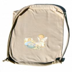 "Bolsa algodón (G) ""Angelito cuna"". 38x32 cm"