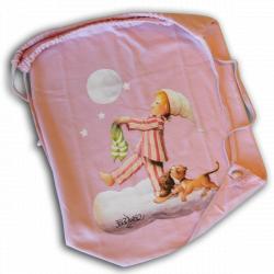 "Bolsa algodón ""Sonámbulo"". Color rosa (G) ¡AGOTADO!"