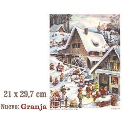 Calendario adviento vintage GRANJA