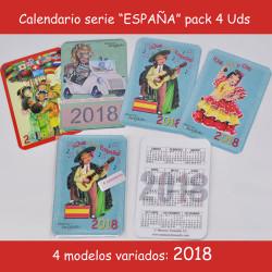 Calendarios bolsillo 2018, serie ESPAÑA:  7x 9,5 cm, Memory Ferrándiz