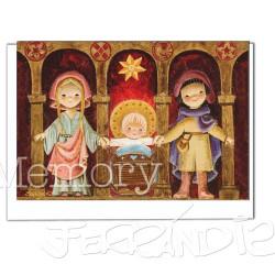 Tarjeta Christmas Memory Ferrándiz ARCOS 3.  12 X 17 cm