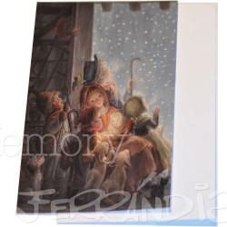 Tarjeta Christmas Ferrándiz COPOS DE NIEVE, 12x17 cm