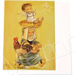 Tarjeta Christmas Ferrándiz, Gallo de Navidad,