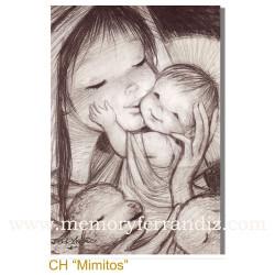 Christmas tarjeta Ferrándiz MIMITOS, NUEVA, 12 X 17 cm