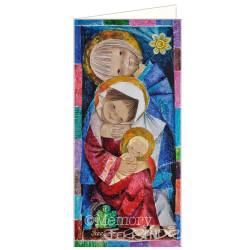 Christmas tarjeta Ferrándiz MOSAICO, NUEVA (10 x 21 cm)