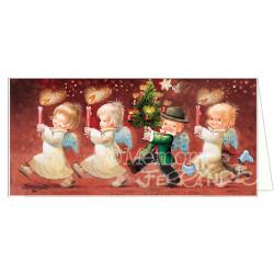 Tarjeta Christmas velas
