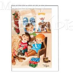 Tarjeta Christmas Memory Ferrándiz  YA VIENEN LOS REYES, 12 X 17 cm
