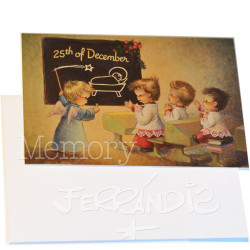 Tarjeta Christmas -25 DICIEMBRE- Memory Ferrándiz