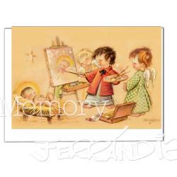 Tarjeta Christmas Ferrándiz PINTOR DE JESÚS.  12 X 17 cm