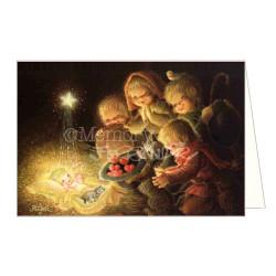 Tarjeta Christmas Memory Ferrándiz OFRENDA DE CORAZONES