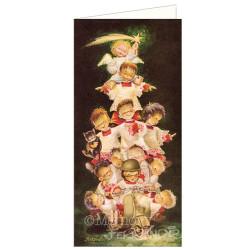 Tarjeta Christmas MONAGUILLOS EN VESPA