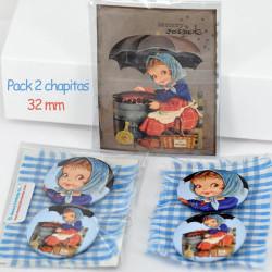 Chapitas pack 2 uds: CASTAÑERA