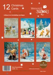 """Pack 12 Christmas. Serie """"Escandinavia"""". CHPK 15. 12 u + sobres (12 cm x 17 cm)"""