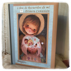 Libro de Recuerdos de mi Primera Comunión -ANGELITO DORADO-  LB CM 13.¡NUEVO LOMO!