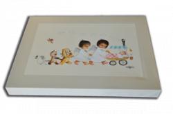 CUADRO en lienzo digital Ferrándiz, Angelitos y mascotas paseando bebé, Memory Ferrándiz