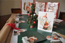 Mantel Camino de mesa Papa Noel