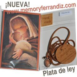 Medalla mini de PLATA DE LEY Memory Ferrándiz -Virgen canela-estampa