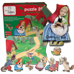 Caperucita Roja, puzzle gigante, Ferrándiz, Memory Ferrándiz y cuento Caperucita