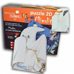"""Puzzle 2D """"Miedito""""  + CUENTO """"Miedito, el buen fantasmita""""."""