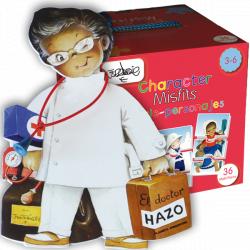 """Puzzle """"Personajes"""" + CUENTO """"Dr. Hazo"""". 3-6 años"""