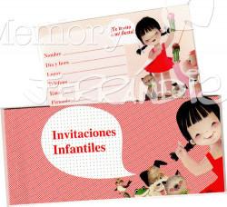 Talonario Invitación infantil - Niña (15 invitaciones)