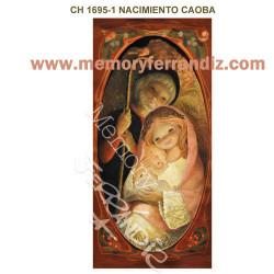 Tarjeta Christmas, NACIMIENTO CAOBA, Ferrándiz, 10 x 21 cm