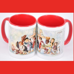 Taza cerámica RAZAS 9,5 cm alto  x 8 cm diámetro Memory Ferrándiz