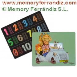 "Tabla de multiplicar Ferrándiz ""Biscuter""  Memory Ferrándiz"