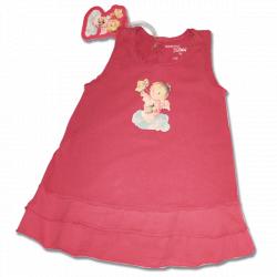 Vestido Volantes Memory Ferrándiz -CABELLO DE ÁNGEL- Color frambuesa. NIÑA