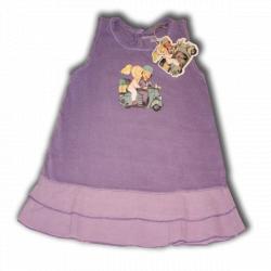 "Vestido sin mangas doble volante ""Vespa"", color lila. Ferrándiz"
