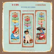 Puntos de libro pack 9 uds: 3 modelos. Carteles cuentos Ferrándiz. Diseñado por Memory Ferrándiz