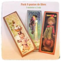 Puntos de libro pack 9 uds: 3 modelos. Ferrándiz
