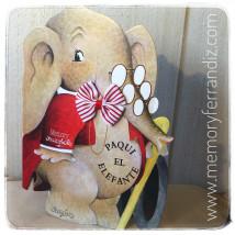 Cuento troquelado Paqui el elefante