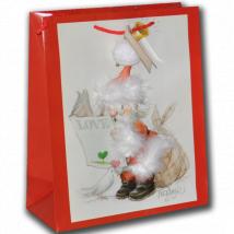 Bolsa papel regalo PAPÁ NOEL, FERRÁNDIZ, con etiqueta.32x26 cm