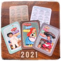 Calendarios bolsillo 2021 carteles cuentos