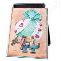 "Caja Bombones o multiusos ""Conejo de Pascua""  (17x12x3cm)"