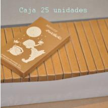 "Cajita 6 lápices cera de colores. ""Niña luna"". SET 25 uds"