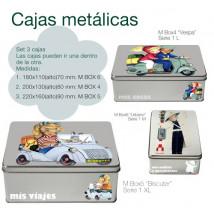 Cajas metálicas Memory Ferrándiz. Set 3 cajas