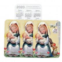 Calendario bolsillo Ferrándiz 2020 VIRGEN AMAPOLAS, pack 3 uds Ferrándiz