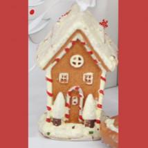 Casita resina caramelo, adorno colgante para árbol navidad