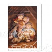 Tarjeta  Ferrándiz MÚSICA EN EL PESEBRE.  12 X 17 cm