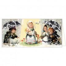 Tarjeta Christmas -Virgen paraguas- Ferrándiz